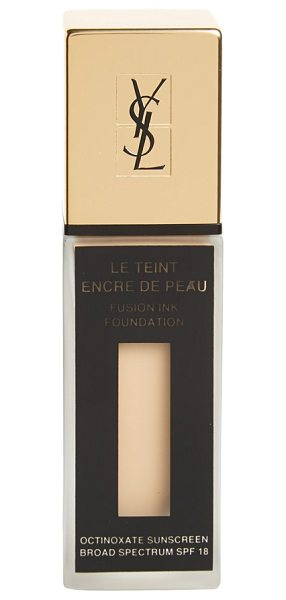 Yves Saint Laurent 'fusion ink' foundation broad spectrum spf 18 in bd-25 warm beige - Fusion Ink Foundation feels like a feather but wears...
