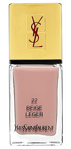 Yves Saint Laurent la laque couture nail lacquer 22 beige leger - A highly pigmented nail lacquer to suit your every mood....