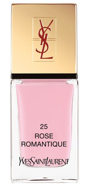 YVES SAINT LAURENT 'la laque couture' nail lacquer in 25 rose romantique - Yves Saint Laurent introduces the La Laque Couture...