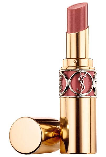 Yves Saint Laurent rouge volupte shine oil-in-stick lipstick in 09 nude in private - Made with 65% oils, the deeply hydrating texture of Yves...