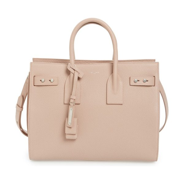 SAINT LAURENT small sac de jour tote in nude rose - Subtle and elegant, this beautifully structured little...