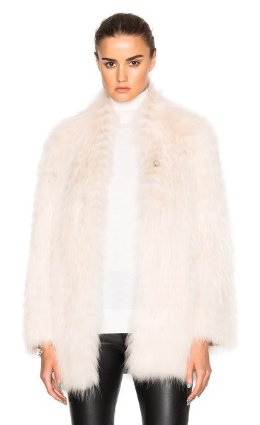 Yves Salomon Asiatic Racoon Jersey Jacket in neutrals,pink - Self: 100% real dyed Asiatic raccoon fur - Contrast...