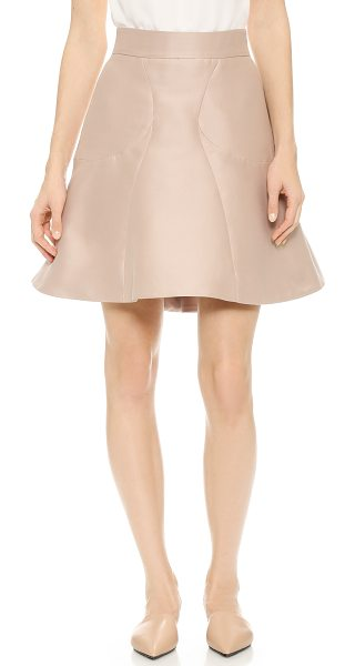 Zac Posen Tulip skirt in blush - Soft, substantial faille sends a graceful drape through...