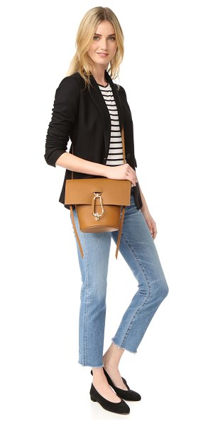 Zac Zac Posen belay cross body bag in camel - Polished carabiners add a sporty feel to this structured...