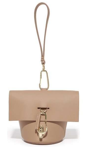 Zac Zac Posen belay museum wristlet in english rose - Polished carabiners add a sporty accent to this petite...