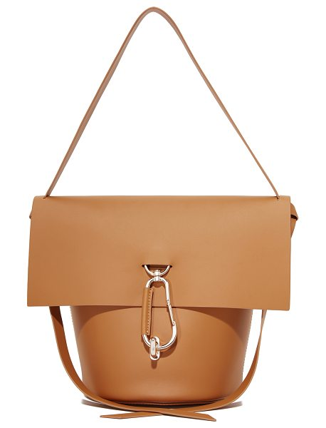Zac Zac Posen belay shoulder bag in camel - A polished carabiner at the turn-lock top flap adds a...