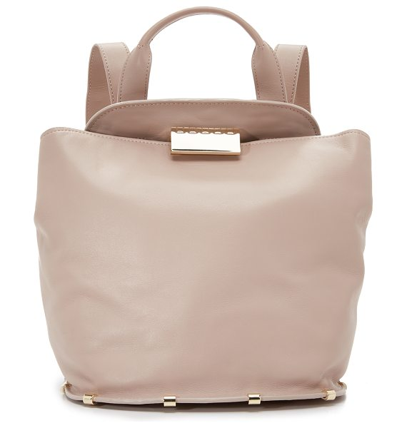 Zac Zac Posen Blythe backpack in blush - A structured ZAC Zac Posen backpack cut from smooth...