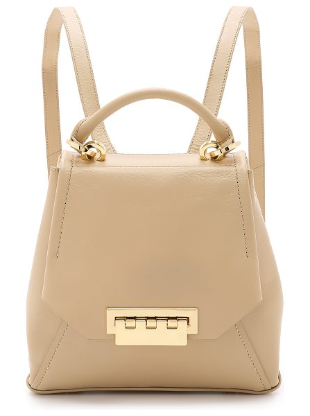 Zac Zac Posen Eartha envelope backpack in sand - A scaled down ZAC Zac Posen backpack in smooth leather....