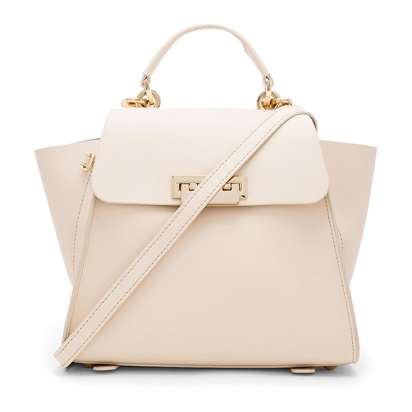 Zac Zac Posen Eartha Iconic Convertible Solid Backpack in cream - Leather exterior and lining. Flap top with fold over...