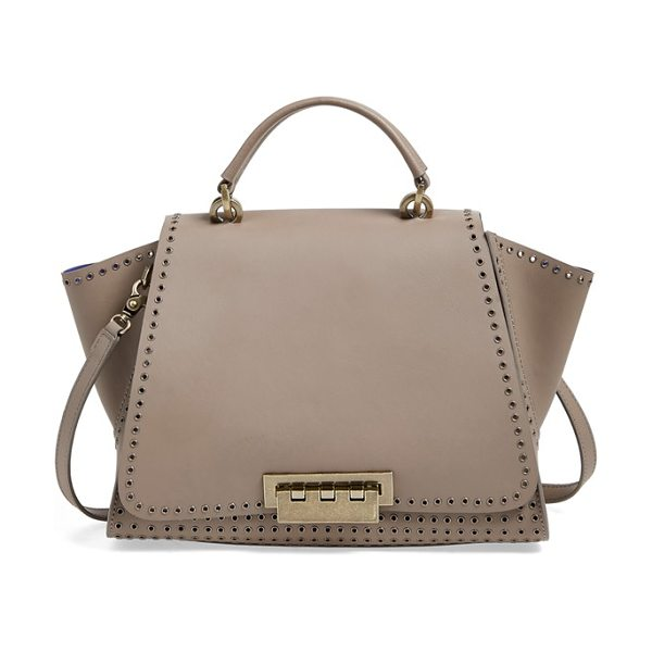 Zac Zac Posen Eartha iconic soft top handle satchel in mink - Smooth calfskin composition underscores the timeless...