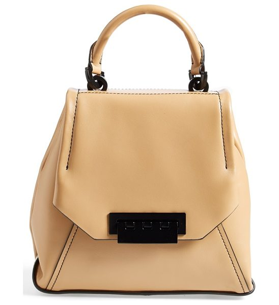 Zac Zac Posen Eartha leather envelope flap backpack in camel - Zac Posen revamps his sophisticated Earth bag into a...