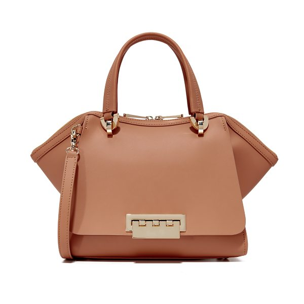 Zac Zac Posen eartha small double handle satchel in ginger - A scaled-down ZAC Zac Posen tote with flared sides,...