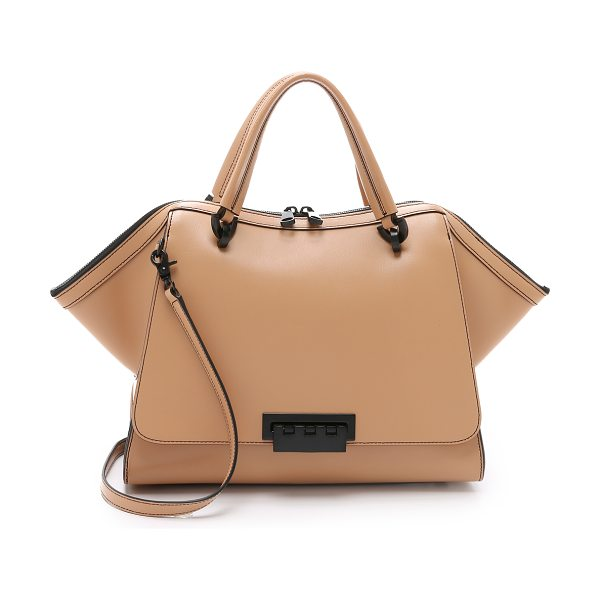 Zac Zac Posen Eartha soft double handle satchel in camel - A large version of ZAC Zac Posen's signature Eartha bag....
