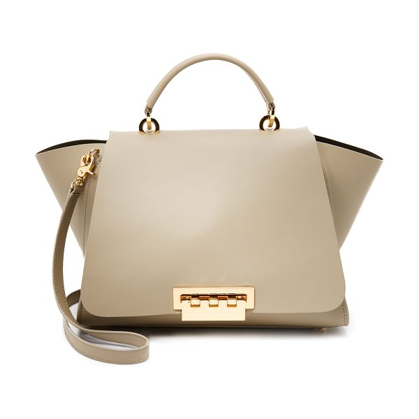 Zac Zac Posen eartha soft top handle bag in beige - A structured ZAC Zac Posen handbag in smooth leather....