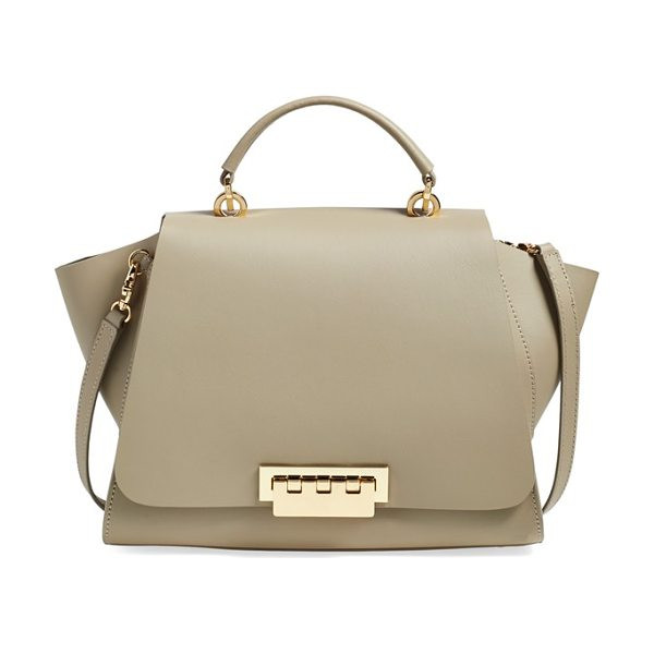 Zac Zac Posen Eartha soft top handle satchel in beige - Smooth, lightweight calfskin shapes a structured...