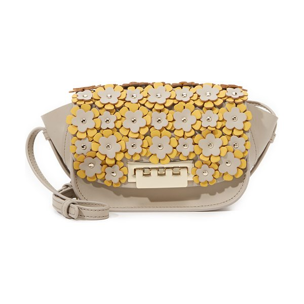 Zac Zac Posen Embellished eartha micro accordion cross body bag in dune