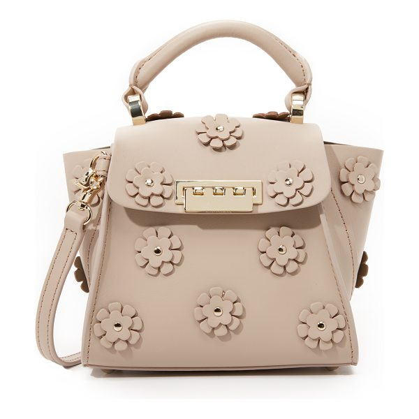 Zac Zac Posen Embellished eartha top handle mini bag in blush - A mini version of a ZAC Zac Posen bag, rendered in...