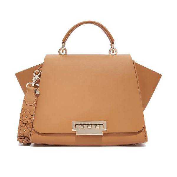 Zac Zac Posen eartha iconic soft top handle bag in camel - A structured ZAC Zac Posen handbag in smooth leather....