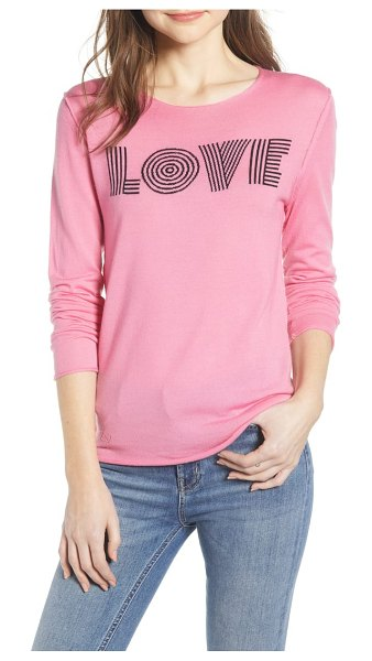 Zadig & Voltaire gwendal woolmark sweater in pink - A brand-boasting graphic fronts this soft, lightweight...