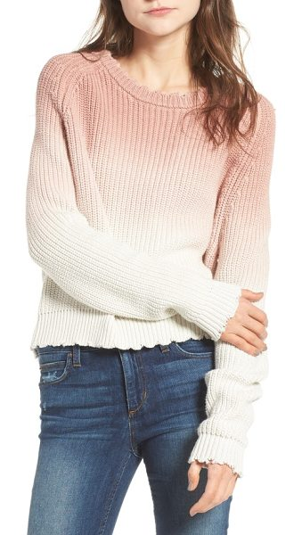 Zadig & Voltaire kary cow ombre sweater in poudre - Dip-dyed for a lovely ombre effect, this chunky-knit...