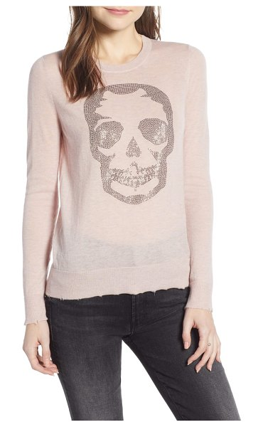 Zadig & Voltaire miss cp skull cashmere sweater in pink