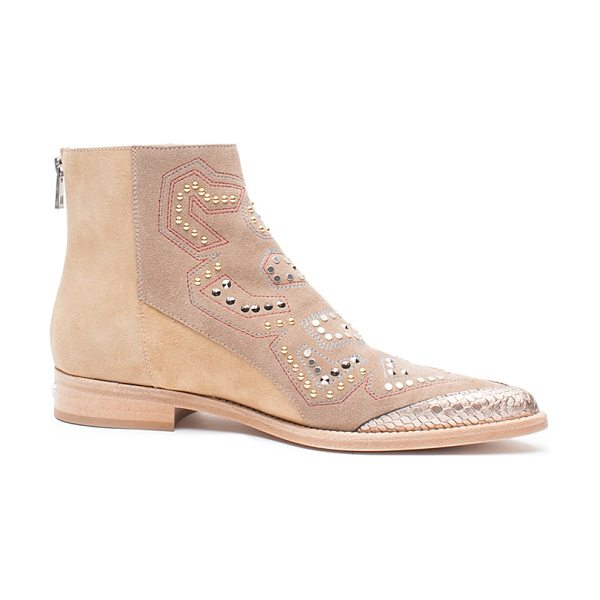 Zadig & Voltaire Mods Neo Clous Studded Booties in taupe - Zadig & Voltaire Mods Neo Clous Studded Booties-Shoes