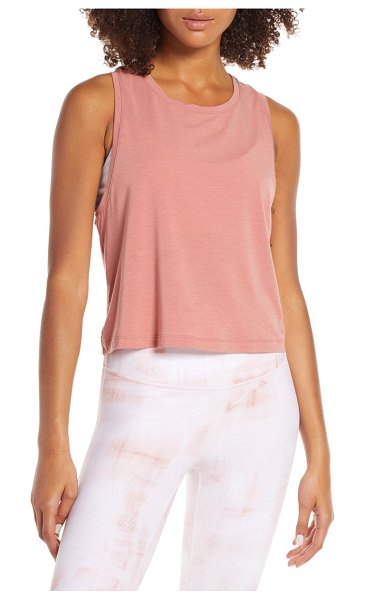 Zella work for it tank in pink canyon