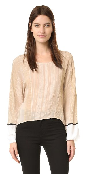 ZEUS+DIONE cyrene blouse in beige - Exclusive to Shopbop. Jacquard insets and tonal...