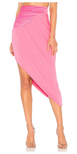 """Zhivago It's No Game Skirt in rose - """"Poly blend. Hand wash cold. Fully lined. Padded waist..."""
