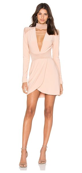 "Zhivago Swallow Dress in peach - Self:: 95% poly 5% elastaneContrast: 51"""" poly46% cotton..."