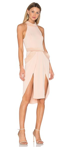 Zhivago The Sordid Topic of Coin Dress in blush - Main: 93% poly 7% spandexContrast: 97% poly 3% elastane....