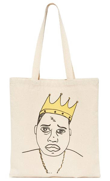 Zhuu biggie tote in natural - A lightweight Zhuu tote styled with a pen-line drawing...