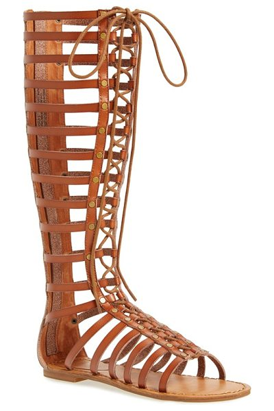 ZiGi girl jacee tall gladiator sandal in tan faux leather