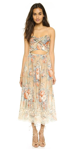 ZIMMERMANN Anais antique floral tie dress - An airy Zimmermann dress in a pretty floral print. A...