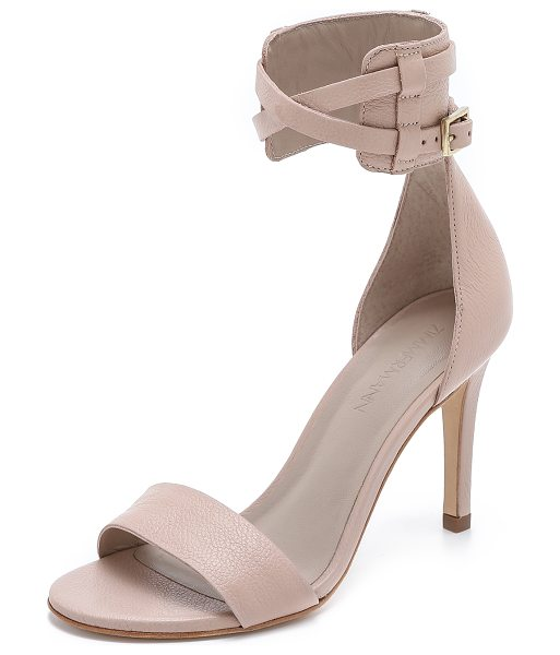 Zimmermann Ankle strap sandals in nude - Zimmermann sandals made from sturdy pebbled leather. A...