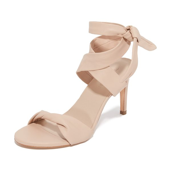 ZIMMERMANN ankle tie heels in nude - Leather ankle ties lend unexpected elegance to these...