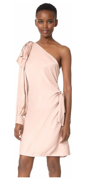 Zimmermann bow mini dress in blush - NOTE: Zimmermann uses special sizing. A soft satin...