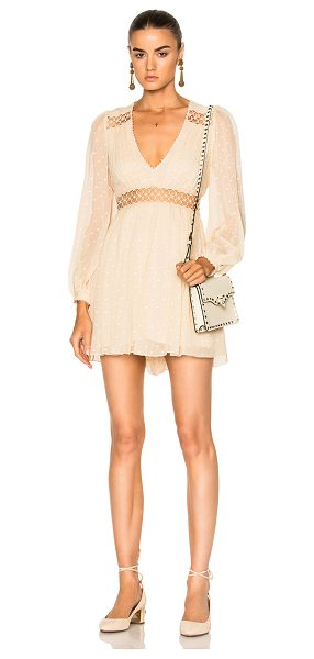 ZIMMERMANN Bowerbird Empire Playsuit - Self: 100% silk - Lining: 100% poly.  Made in China. ...