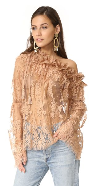 ZIMMERMANN bowerbird lace blouse - NOTE: Zimmermann uses special sizing. A relaxed...