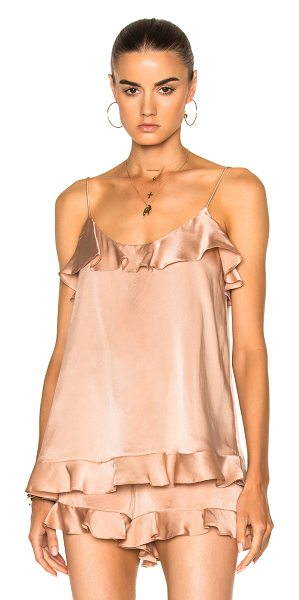 Zimmermann Bowerbird Sueded Flutter Cami in nude - Self: 100% silkLining: 100% poly. Made in China. Dry...