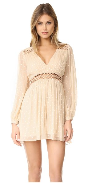 Zimmermann bowerbrid empire playsuit in nude dot - NOTE: Zimmermann uses special sizing. Embroidered polka...