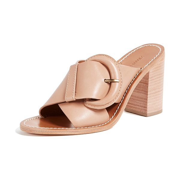 Zimmermann buckled mules in natural tan - Charming Zimmermann mules with wide straps and a covered...