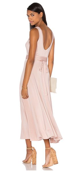 ZIMMERMANN Chroma Slinky Maxi Dress in blush - 96% viscose 4% elastane. Dry clean only. Unlined....