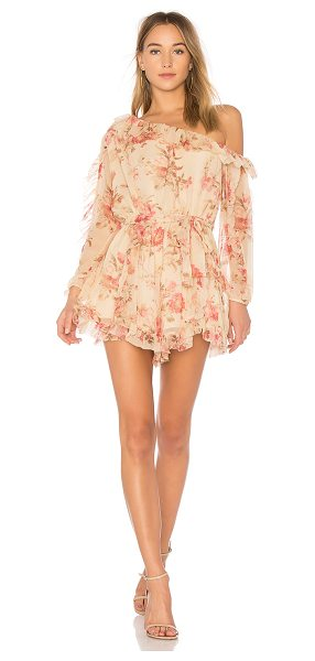 "Zimmermann Corsair Whimsy Romper in pink - ""Semi-sheer silk form Zimmermann?s Corsair Whimsy..."