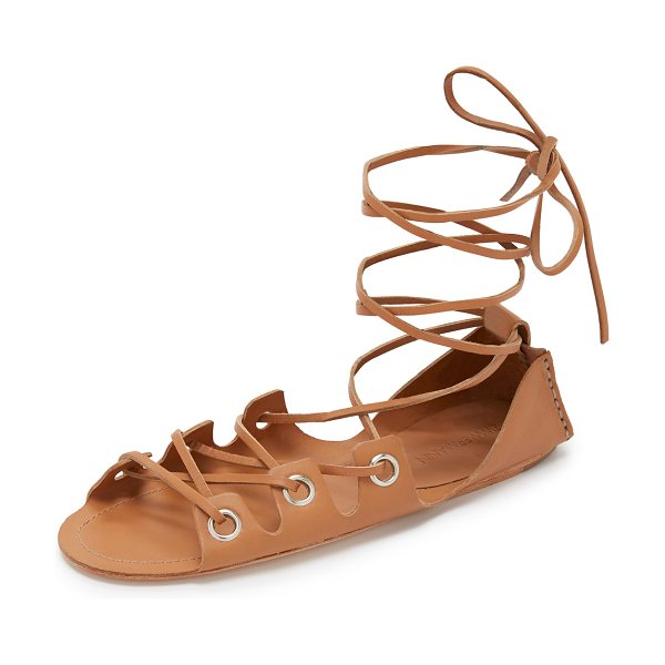 Zimmermann eyelet gladiator sandals in tan/tan