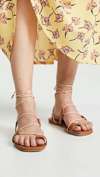 Zimmermann flat sandals in tan