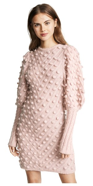 Zimmermann fleeting bauble dress in rose - Fabric: Chunky knit Chevron pattern Bauble detailing...