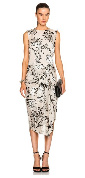 Zimmermann Fortune Burnout Dress in floral,neutrals - Self: 70% silk 30% viscose - Lining: 100% poly.  Made in...