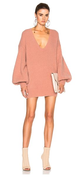Zimmermann Karmic slouch sweater in pink - 85% superwash wool 15% nylon.  Made in Australia.  Dry...