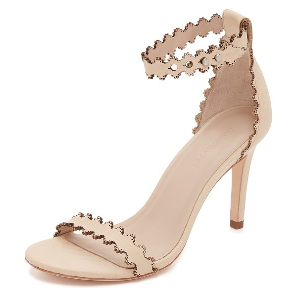 Zimmermann Lace ankle heels in nude - Allover embossing creates unique floral texture on these...